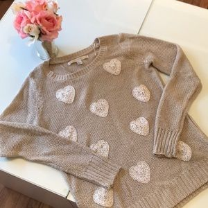 LC by Lauren Conrad 💕 heart detail sweater